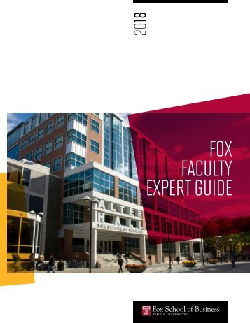 Fox Faculty Media Booklet 2018