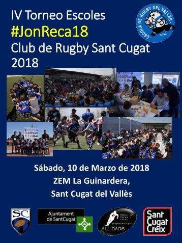 INVITACION IV Torneo Escoles Rugby Sant Cugat 2018