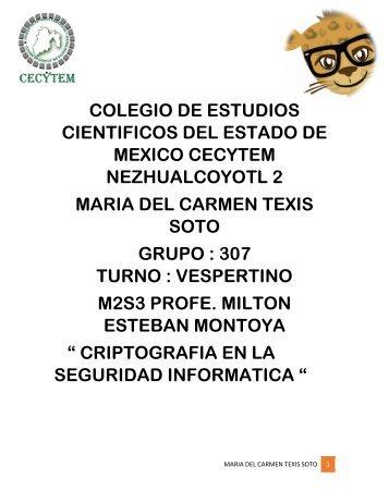 COLEGIO DE ESTUDIOS CIENTIFICOS DEL ESTADO DE MEXICO CECYTEM NEZHUALCOYOTL 2