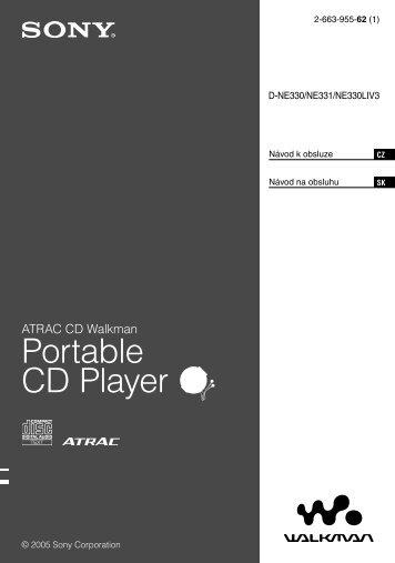 Sony D-NE330 - D-NE330 Consignes d'utilisation Slovaque