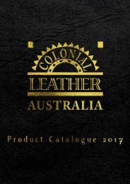 Colonial Leather Catalogue 2017