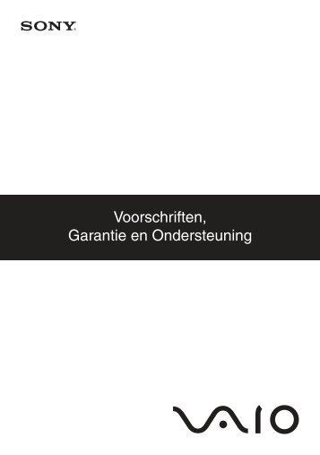 Sony VGN-FW56ZR - VGN-FW56ZR Documents de garantie Néerlandais