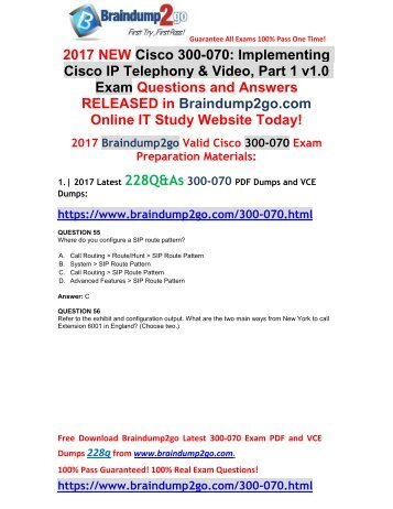 (2017-Nov-Version)New Official 300-070 VCE and PDF Dumps 228Q&As Free Share(Q55-Q66)