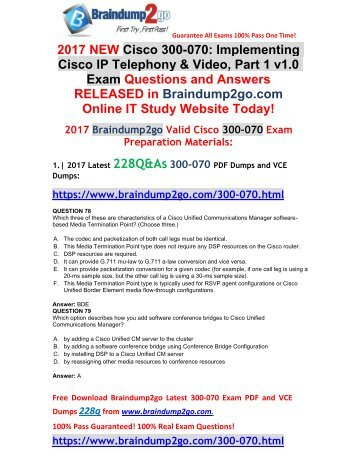 (2017-Nov-Version)New Official 300-070 VCE Dumps 228Q&As Free Share(Q78-Q89)
