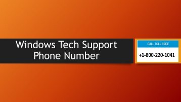 Dial 18002201041 Windows Tech support phone number