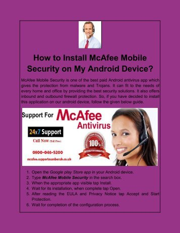 How to Install McAfee Mobile Security on My Android Device