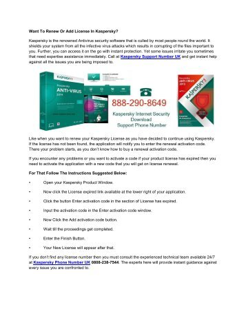Want To Renew Or Add License In Kaspersky