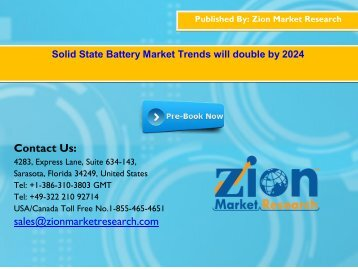 Global Solid State Battery Market, 2016 – 2024