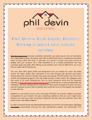 Phil Devin Real Estate Review: Giving a smart real estate service