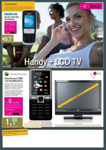 Handy + LCD TV