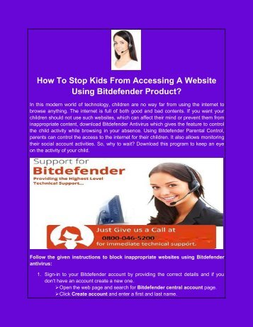 How To Stop Kids From Accessing A Website Using Bitdefender Product