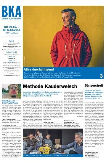 Berner Kulturagenda 2017 N° 47