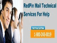 Redpin Technical Support Number 18002430019 For Help