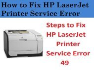 8443555111 Steps to Fix HP LaserJet Printer Service Error 49