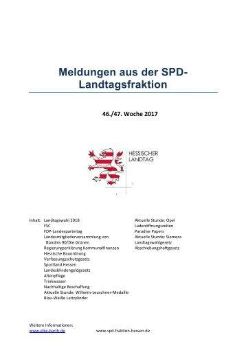 Meldungen aus der SPD-Landtagsfraktion 46_47