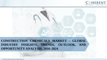 Construction Chemicals Market - Global Industry Insights, Trends, Outlook, and Opportunity Analysis, 2016–2024
