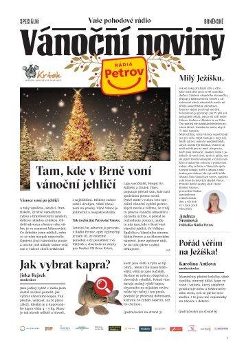 Vánoční noviny Rádia Petrov