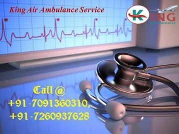 King Air Ambulance Services in Sri Nagar and Shimla