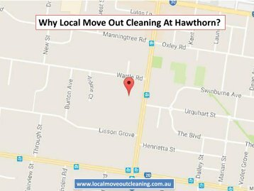 Why Local Move Out Cleaning At Hawthorn?