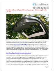 Global Hands-free Power Liftgate Market Research Report 2017