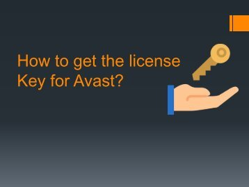 How to get the license Key for Avast?