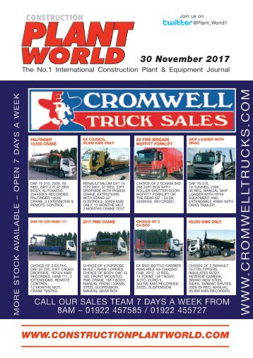 Construction Plant World 30th November 2017