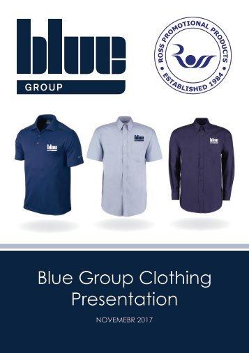 Blue Group Clothing Presentation Booklet Nov 17 - No Prices