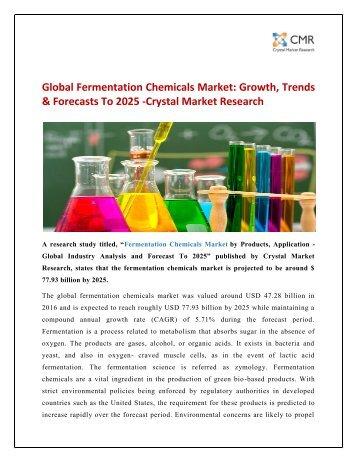 Fermentation Chemicals Market