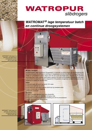 WATROMAT® lage temperatuur batch en continue ... - WATROPUR