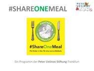 SPUS #ShareOneMeal Infobroschüre 2017