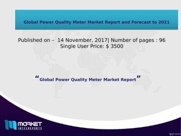 Global Power Quality Meter Market 2017-2021
