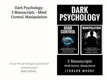 Download eBook PDF Dark Psychology- 2 Manuscripts - Mind Control, Manipulation