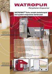 WATROMAT® Suhu rendah berkelompok and system ... - WATROPUR