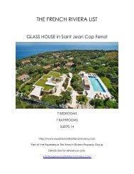 Glass House - Saint Jean Cap Ferrat