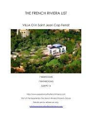 Villa O - Saint Jean Cap Ferrat