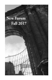 New Forum | Fall 2017
