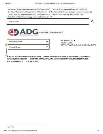 Buy Fildena 150mg _ AllDayGeneric