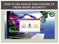 How to use Rescue Disk feature of Trend Micro Security?