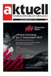 Aktuell Obwalden 48-2017