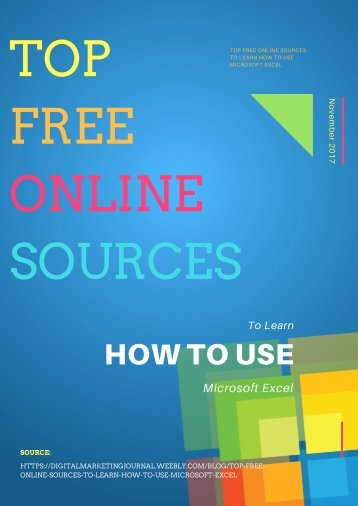 Top Free Online Sources To Learn How to Use Microsoft Excel