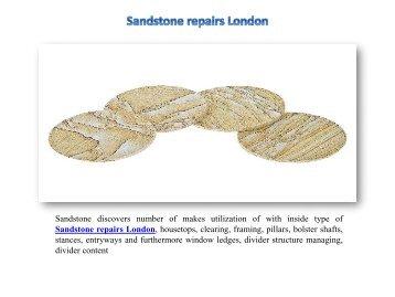 Sandstone repairs London