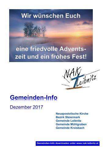 Gemeindeinfo Dezember 2017