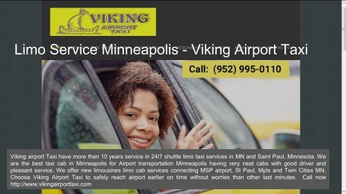 Airport Transportation Minneapolis MN | 24/7 Taxi Services - Viking Airport Taxi
