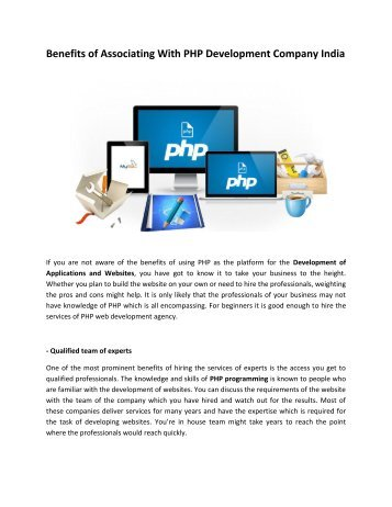 PHP Web Applications Development In India