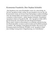 Kommentar Fraunhofer Agrophotovoltaik