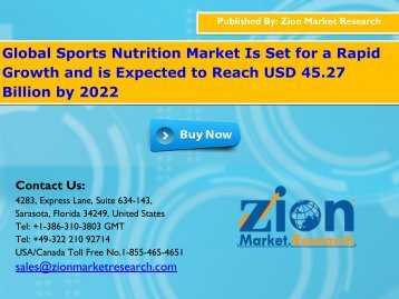 Sports Nutrition Market Will Cross USD 45.27 Billion in 2022