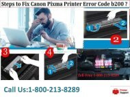 Steps to Fix Canon Pixma Printer Error Code b200? 18002138289