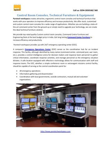 Control Room Consoles, Technical Furniture & Equipment