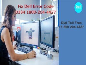 1800-204-4427 Fix Dell Error Code 0334