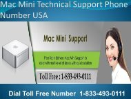 1-833-493-0111 Mac Mini Technical Support Number